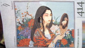 Geisha Printed needlepoint