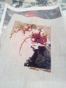 Needlepoint current progress