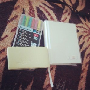 new notebooks and fineliner pens
