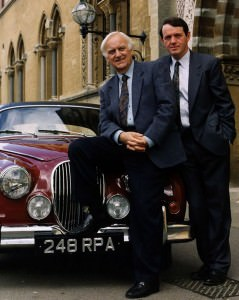Inspector Morse TV detective series with John Thaw and Kevin Whately